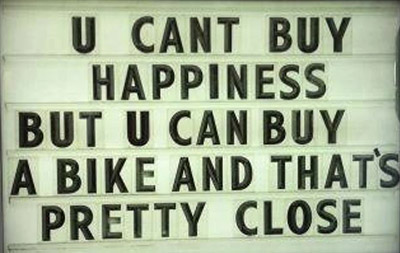 U can't by happiness