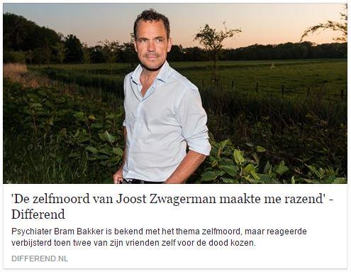 'De zelfmoord van Joost Zwagerman maakte me razend'