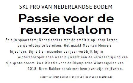 Passie voor de reuzenslalom: Bram Bakker sprak met Maarten Meiners over zijn drijfveren