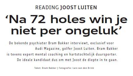 'Na 72 holes win je niet per ongeluk'